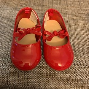 Size 5 Gymboree Red Baby Shoes. Worn once.